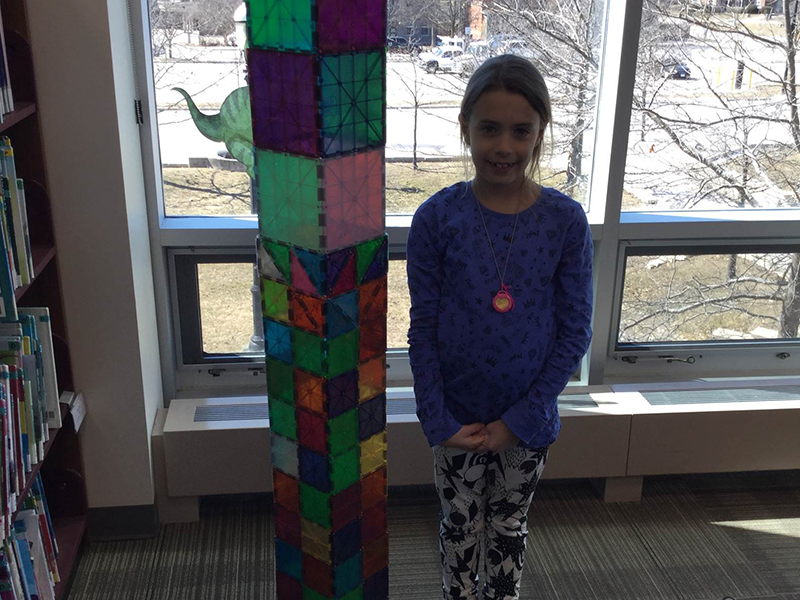 Tinker Lab - Magna Tiles Tower