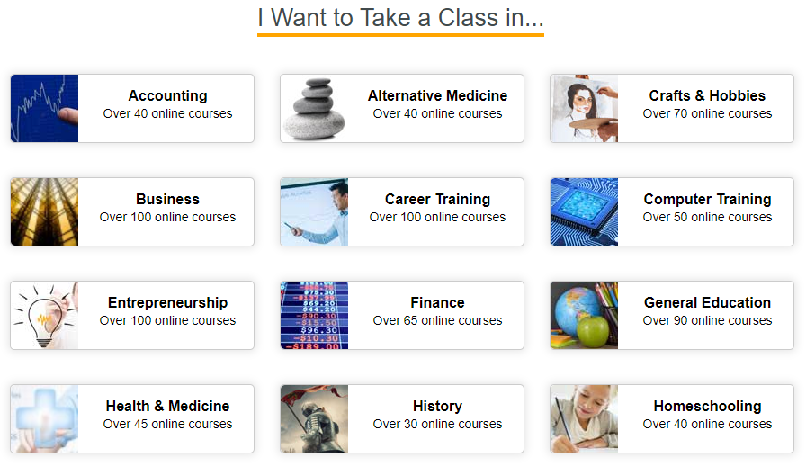 Universal Class courses