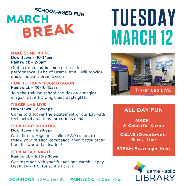 March Break - May 12 Programs