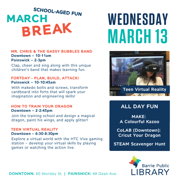March Break - May 13 Programs