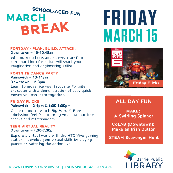 March Break - May 15 Programs